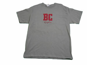 BOSTON-COLLEGE-EAGLES-ADULT-GREY-EMBROIDERED-SHORT-SLEEVE-T-SHIRT-NEW