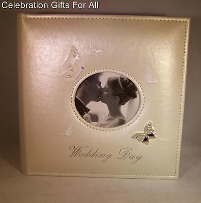 "Ivory Wedding Butterfly Photo Album  - Holds 80 5"" x 7""    71133"