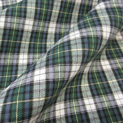 Stoff Meterware Baumwolle Karo Schottenkaro grün blau weiß Flanell weich Webkaro