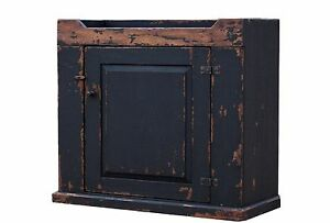 PRIMITIVE-PAINTED-PINE-COUNTRY-DRY-SINK-CABINET-FARMHOUSE-REPRODUCTION-CUPBOARD