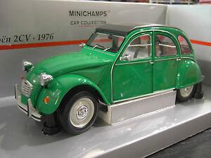 CITROEN-2CV-1976-vert-au-1-18-MINICHAMPS-150111502-voiture-miniature-collection