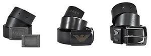 Authentic-175-Armani-Jeans-Men-039-s-Black-Leather-Belt-size-30-32-34-36-38-40