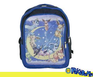 16-034-Backpack-School-Book-Bag-Blue-POKEMON-Eevee-Leafeon-Glaceon-Espeon-Umbreon