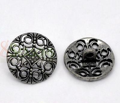Silver Pop Tone Sewing Metal Buttons M0334