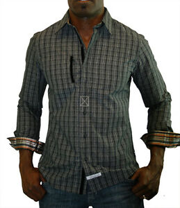 Scott-Weiland-By-English-Laundry-Slade-Grove-Men-039-s-Dress-Shirt-Woven