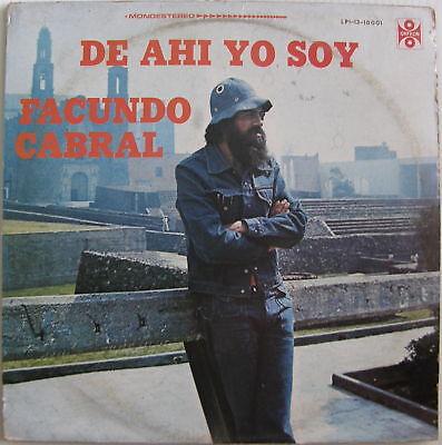 Facundo Cabral De Ahi Yo Soy 1976 EX