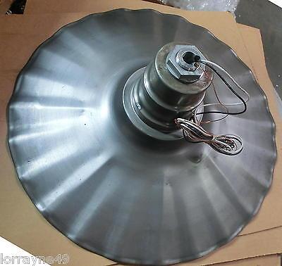 """Radial Wave 20"""" Industrial Lighting Fixture Rust Unfinish"""
