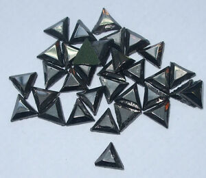 6mm-TRIANGLE-BLACK-HEMATITE-IRON-ON-NAILHEAD-METAL-STUD-BEAD-PATCH-EMBELLISHMENT