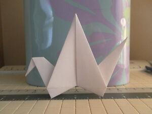**100** LARGE White Handmade Wedding Paper Origami Cranes