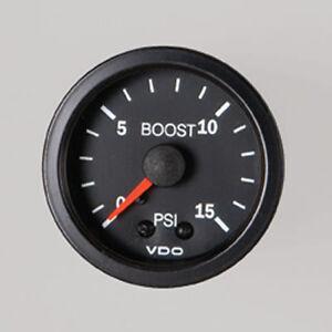 VDO-BOOST-GAUGE-BLACK-0-15PSI-52MM-TURBO-DIESEL-LANDCRUISER-PATROL-PAJERO-4WD