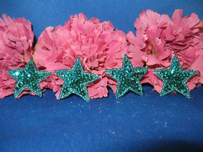 SEQUIN BEADED FOUR 1.25In STARS APPLIQUES 0978-T2