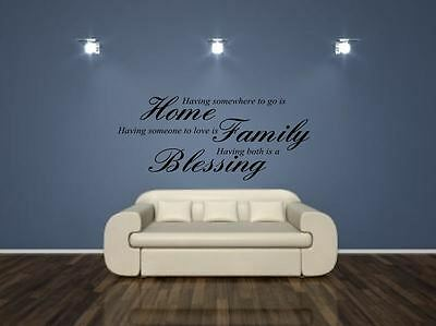 Home Family Blessing Wall Quote Decal Sticker Wall Decals & Stickers