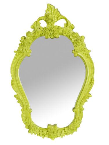 Specchio IN resina verde acido design
