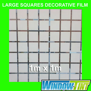 LARGE-SQUARES-DECORATIVE-PRIVACY-HOME-WINDOW-FILM-1m-x-1m-Roll