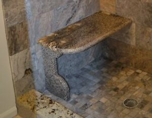 Superb Details About Granite Shower Bench Seat 3Cm Stone You Choose Color Bralicious Painted Fabric Chair Ideas Braliciousco