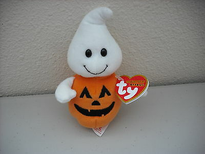 2011 TY HALLOWEENIE BEANIES Babies Plush Toy*GHOSTKIN*MINT*GREAT SELLER