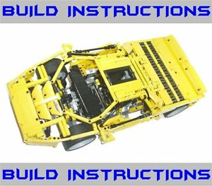 Vector Car Custom Build Instructions 8653 8448 Lego Technic Racers