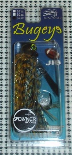 Stanley Bugeye Football Jig 3//4oz FBJ34-164 chinquapin Chartreuse//Orange Accent