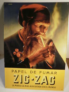Zig-Zag-Rolling-Papers-French-Metal-Sign-16-5-034-X-12-034-Tin-NEW-420-Marijuana-Pot