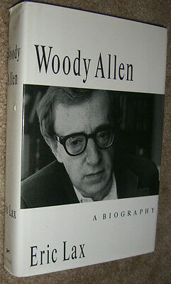 Woody Allen A Biography by Eric Lax First Edition Photos HCDJ 1991