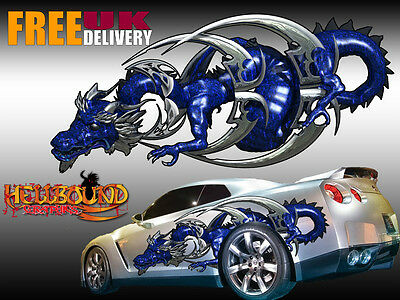 Pair of Full Colour Dragon Car Decals/Graphics - Free Delivery!