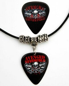 Avenged-Sevenfold-Guitar-Pick-Black-Leather-Necklace