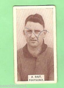 1933-VFL-WILLS-CIGARETTE-CARD-99-A-RAIT-FOOTSCRAY