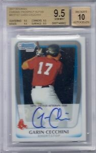 BGS-9-5-2011-Bowman-Chrome-AUTO-Garin-Cecchini-RC-RED-SOX