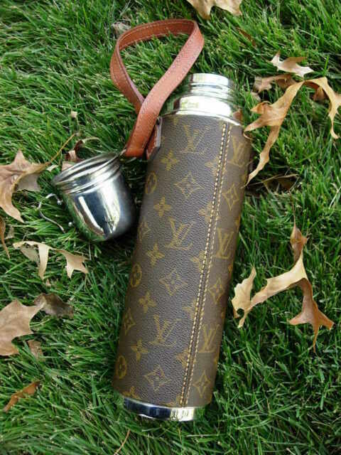 Authentic Ultra RARE Vintage LOUIS VUITTON Large THERMOS Picnic  LV Accessory