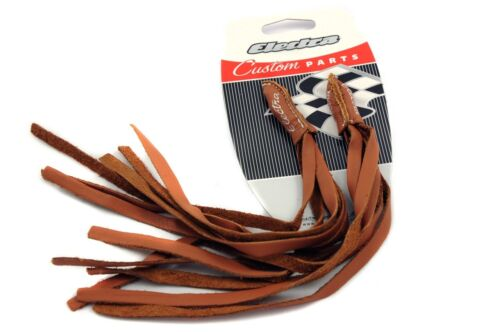 ELECTRA HANDLEBAR STREAMERS TASSELS  LEATHER TOP CLASS BLING-CRUISER,DRAGSTERS
