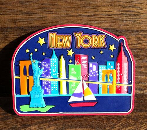 SOUVENIR  Rubber FRIDGE MAGNET ------ New York  United States