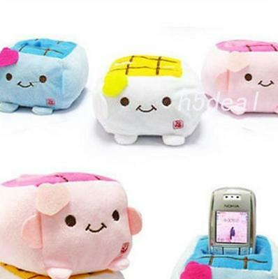 New Cute Mobile Cell Phone Tofu Holder Seat Stand Japan