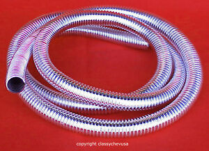 Chromed plastic flexible automotive Wire Loom Chrome 72\