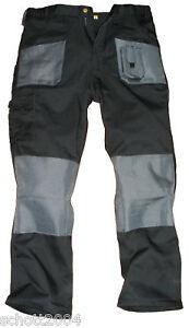 Blackrock-Mens-Cargo-Combat-Work-Wear-Trousers-Pants-Knee-Pad-Pockets-Black