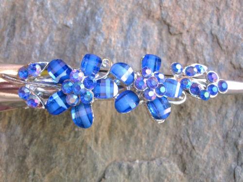 "Rhinestone Flower Hair Claw Clip Alligator Meta Clamp Color Choice 5/"" LENGTH"