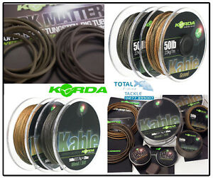 Korda-NEW-Dark-Matter-Tungsten-Tubing-Putty-amp-Kable-Leadcore-Full-Range