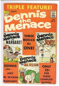Dennis-the-Menace-Triple-Feature-1-Hallden-1961-VG