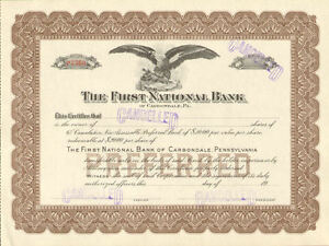 First-National-Bank-of-Carbondale-Pennsylvania-stock