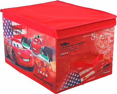 Large Disney Folding Storage Box Cars Mickey Princess Minnie Strong Stackable