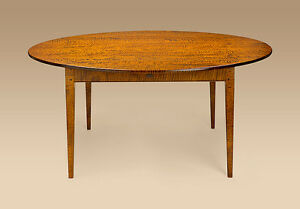 Image Is Loading Dining Room Table Tiger Maple Wood Round 66in  Part 57