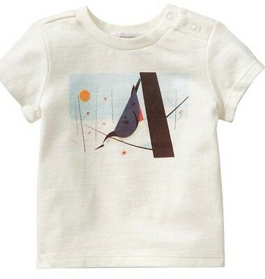 Charley Harper Cotton T Shirt Bird Nuthatch Size 5T Charles Nature Art Modern
