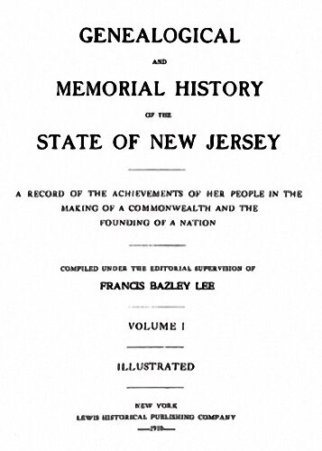 4 Volume 1910 Genealogy Family History of New Jersey NJ