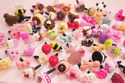 3 x PICK & MIX Kawaii Kitsch DECO Universal Headphone Dust Plugs - UK SELLER!!