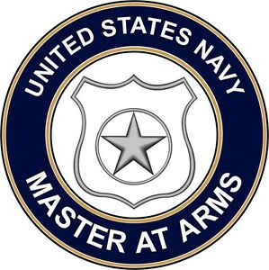 """Navy Master at Arms MA 5.5"""" Die Cut Sticker 'Officially ..."""