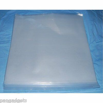 "50 12"" PLASTIC POLYTHENE RECORD SLEEVES / COVERS 450G"