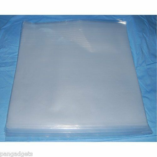 "100 12"" PLASTIC POLYTHENE RECORD SLEEVES / COVERS 250G"