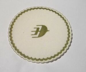 MALAYSIA-AIRLINES-Drink-Coaster-Mat-Paper-Fabric-Wayang-Logo-3-5-034-Dia-MH-2009