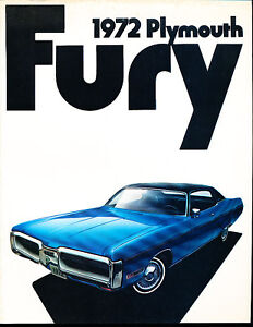 1972-Plymouth-Fury-Gran-I-II-III-22-page-Original-Car-Dealer-Sales-Brochure