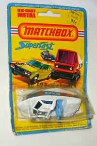 1976 MATCHBOX-LESNEY SUPERFAST #52 POLICE LAUNCH Made in UK Adult, Boats