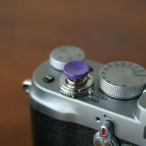 Purple Concave Small Soft Release Button f/ Leica MP M8 M9 Fuji X100 Nikon Canon